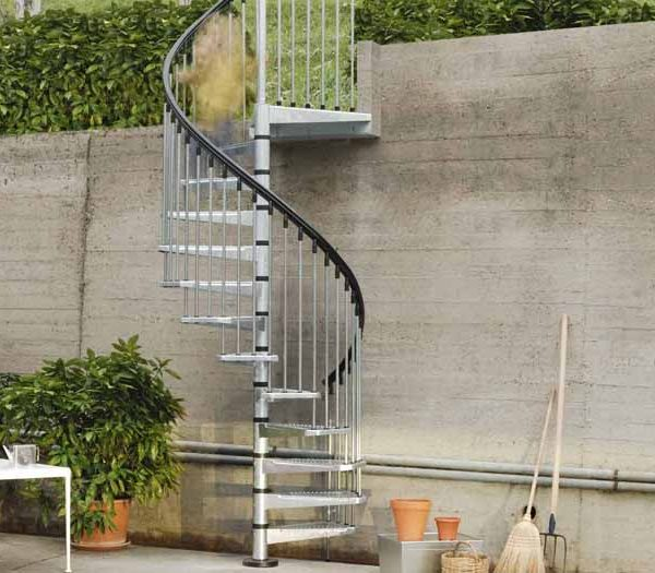 Civik Zink Outdoor Spiral Stair Kit The Staircase People
