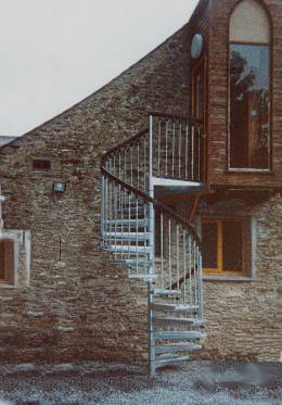 Civik Zink Outdoor Spiral Staircase Kit
