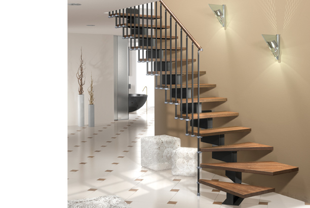 Stilo modular stair kit the staircase people spiral for Prefabricated staircases
