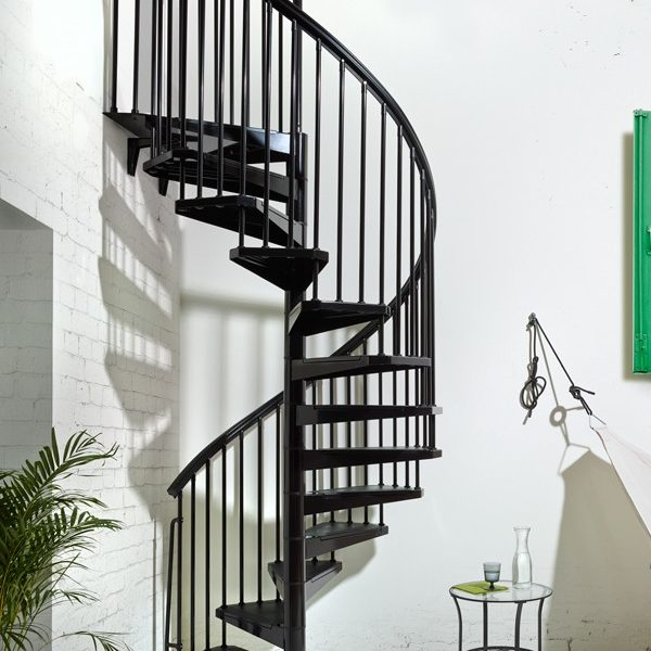 eureka indoor outdoor spiral staircase in black 1200mm 1400mm 1600mm indoor outdoor spiral staircase kit - Outdoor Spiral Staircase