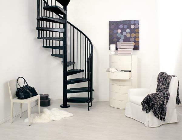 Civik Spiral Staircase in Black from The Staircase People