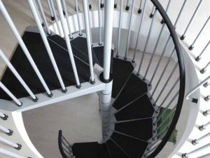 F3 Balustrade with steel spindles and black handrail from The Staircase People