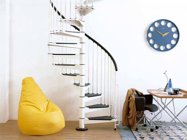 Civik Spiral Staircase in White from The Staircase People