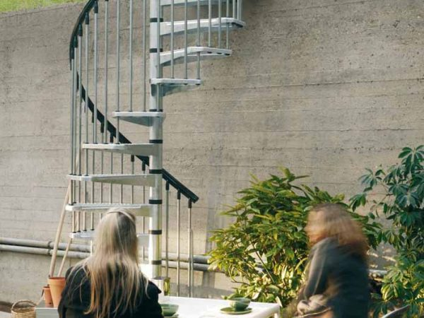 Civik Zink Spiral Stair Kit for Outdoor Installation