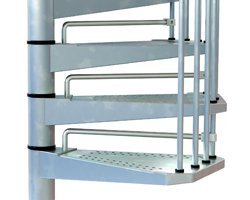 Civik Zink Spiral Staircase Kit Riser Bars