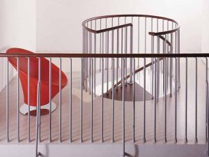 Klan Spiral Staircase Landing Balustrade from The Staircase People