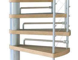 Riserbars for the Kloe Spiral Staircase from The Staircase People