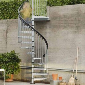 Civik Zink Spiral Staircase Kit for Exterior Use