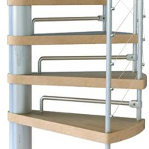 Kloe Spiral Stair Kit Riser Bar Set from TheStaircasePeople.co.uk