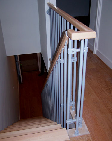 F4 Balustrade on a Landing to match Kompact Staircase from TheStaircasePeople.co.uk
