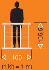 F12 Straight Vogue Stairwell Balustrading from TheStaircasePeople.co.uk