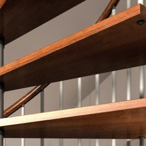 Nova Beech Treads on the spiral stair kit from TheStaircasePeople.co.uk