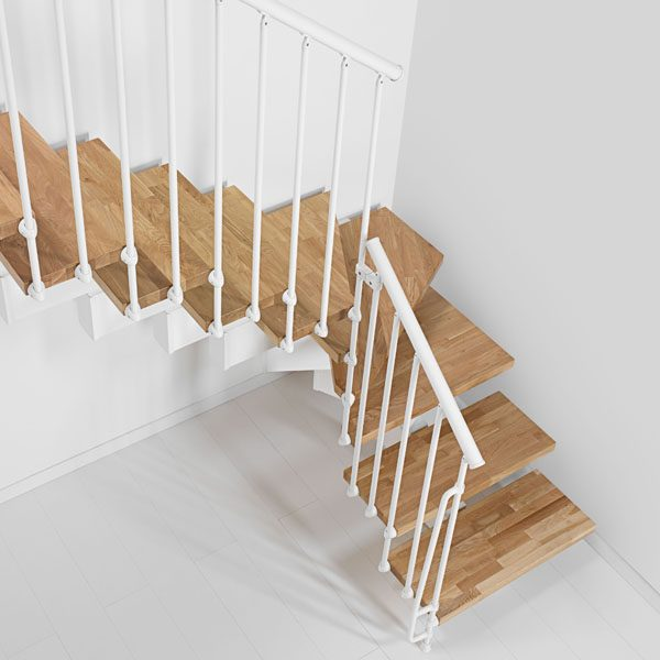 Oak90 L Shape Modular Stair Kit from TheStaircasePeople.co.uk