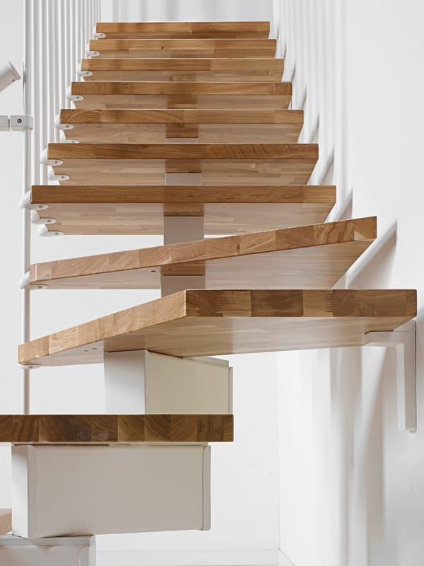Oak90 Modular Stair in White from TheStaircasePeople.co.uk