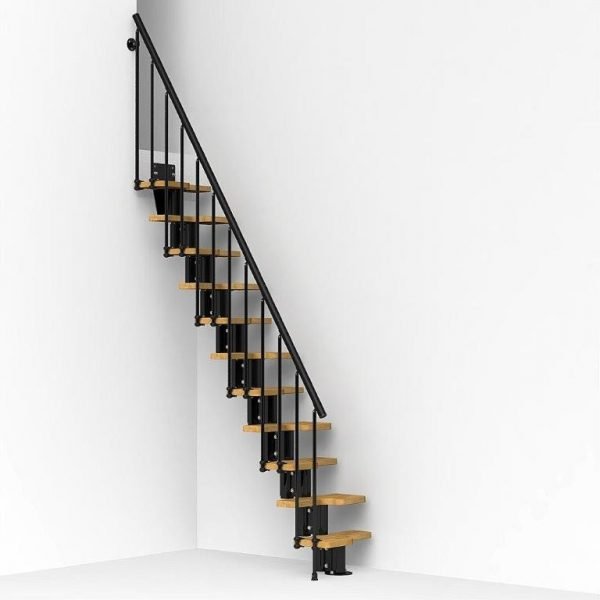 Oak30 Space Saving Stair Kit in Black from TheStaircasePeople.co.uk