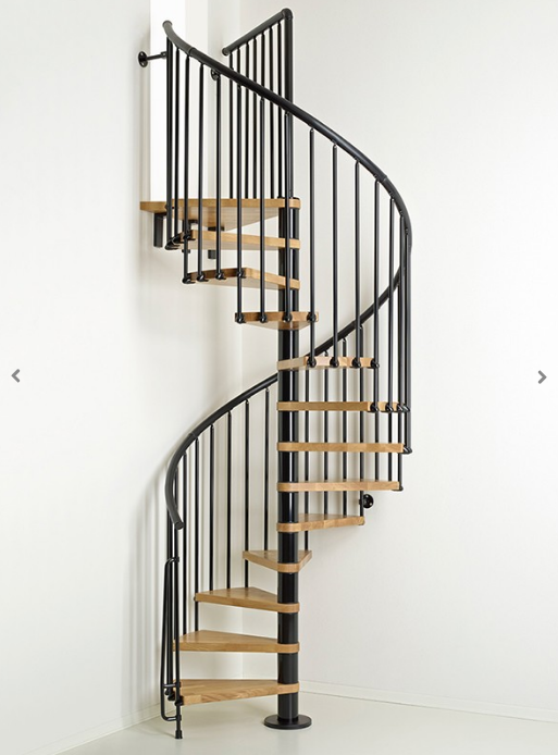 Oak70 Spiral Stair Kit in Black from TheStaircasePeople.co.uk