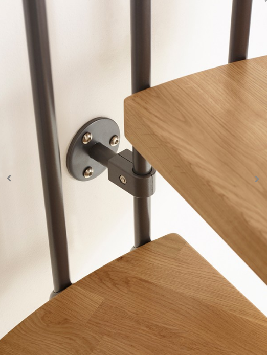 Oak70 Spiral Stair Kit Wall Fixing Bracket from TheStaircasePeople.co.uk