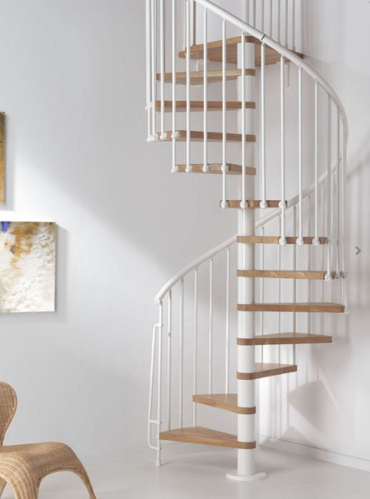 Oak70 Spiral Stair Kit in White from TheStaircasePeople.co.uk