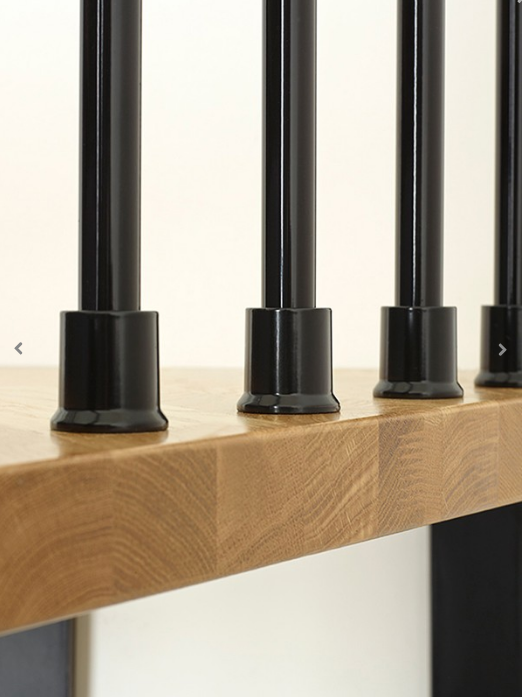Oak70 Spiral Stair Kit Landing Tread in Black from TheStaircasePeople.co.uk