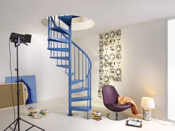 Clip Spiral Staircase in Blue from TheStaircasePeople.co.uk