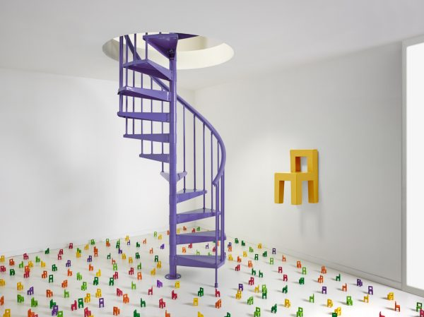 Clip Spiral Staircase in Violet1