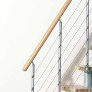 Kya Space Saver Stair Kit Handrail from TheStaircasePeople.co.uk