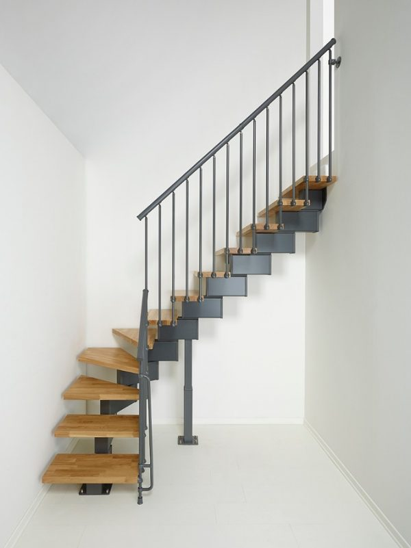 Oak90 Modular Stair Kit in Iron Grey from TheStaircasePeople.co.uk