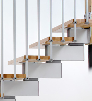 Stilo Modular Stair Spine Detail from TheStaircasePeople.co.uk