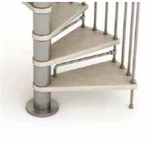 Genius T Spiral Stair Riserbars