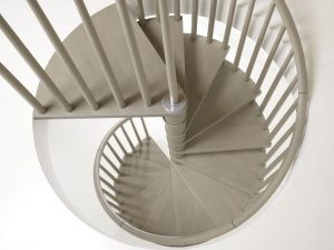 Looking down the Genius T070 Spiral Staircase