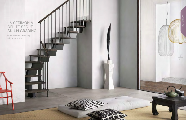 Genius RA020 L Shaped Winder Staircase by Fontanot