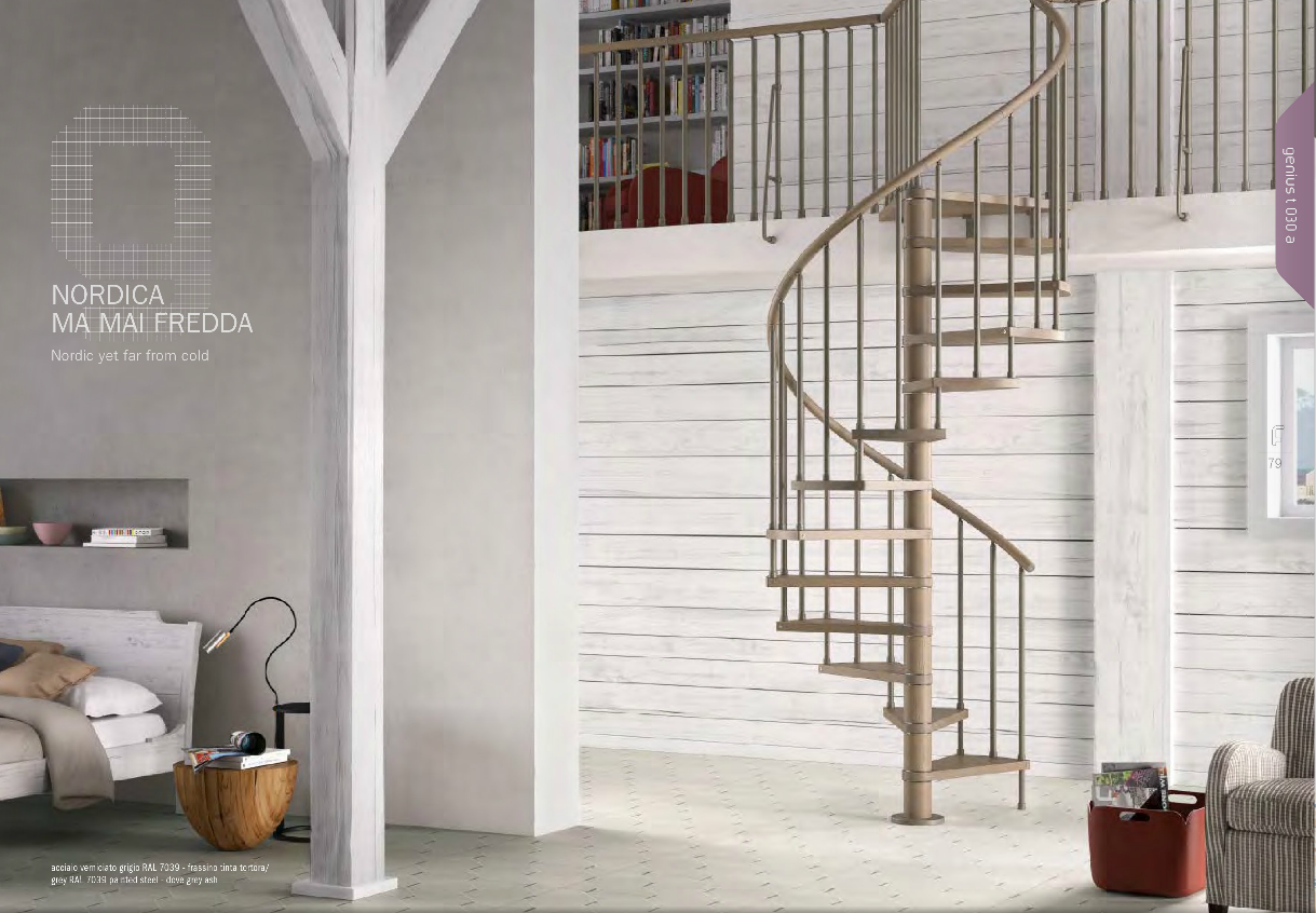 Genius T030 Spiral Staircase | The Staircase People | Spiral