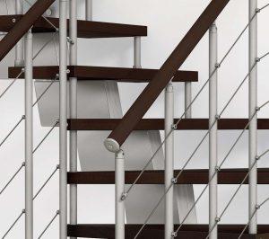 Genius RA 010 Open Tread Winder Staircase Detail