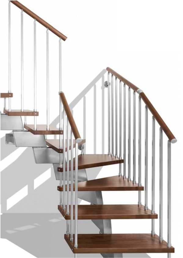 Genius RA020 Winder Staircase in L Format by Fontanot