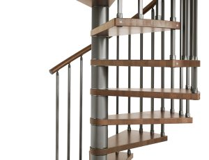 Genius T020 Spiral Stair in Cherry Stain Beech Treads from TheStaircasePeople.co.uk