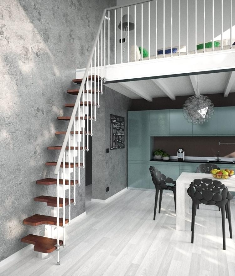 Madrid Wooden Space Saver Staircase Kit Loft Stair: Venus Space Saving Stair