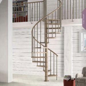 Genius T Spiral Staircase 030 wood balustrading