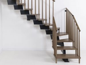 Genius RA070 Winder Staircase with Timber Balustrading by Fontanot