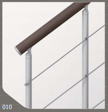 Genius010 Balustrading Design with Powder Coated Steel Posts and Stainless Steel Cables
