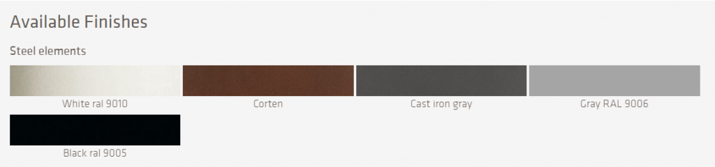 LaFont Fascia Steel Colours