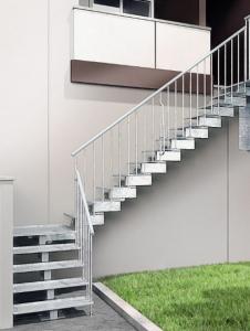 Urban C Exterior Galvanised Modular Staircase