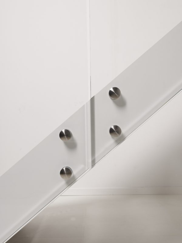 LaFont Fascia 090A 05 Side View of Staircase with Stainless Steel Fixings for Glass Panel Balustrade