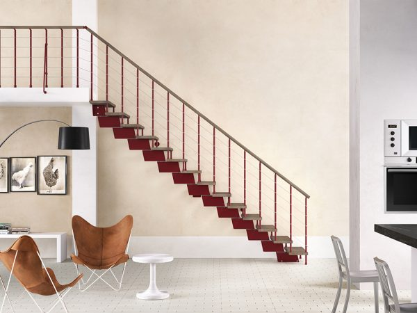 Genius RA010 Wine Read Dove Grey Brushed Ash Treads Special Colours by Fontanot