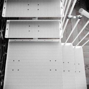 Detail of Quarter Landing Tread Mat for Jack Steel Staircase by Ehleva