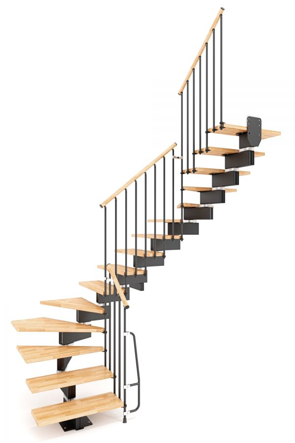 Stilo Modular Staircase option 5 by Ehleva from TheStaircasePeople.co.uk
