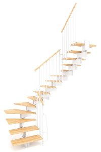 Stilo Modular Staircase option 6 by Ehleva from TheStaircasePeople.co.uk